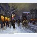Boulevard de la madeleine winter