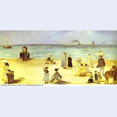 Beach at boulogne 1869