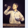Boy blowing bubbles 1869