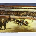 Bull fighting scene 1866