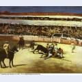 Bull fighting scene 1866