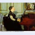 Madame manet at the piano 1868