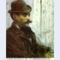 Man in a round hat alphonse maureau 1878