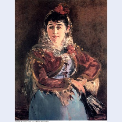 Portrait of emilie ambre in role of carmen