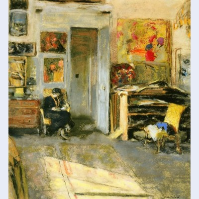 Madame losse hessel in vuillard s studio