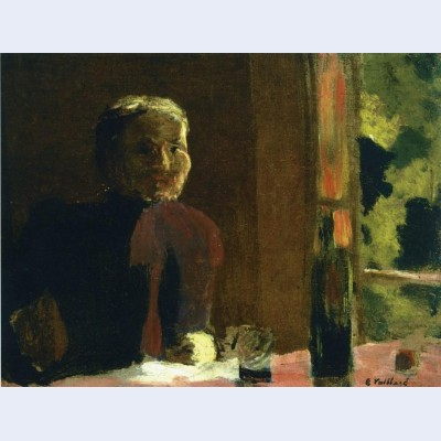 Madame vuillard at table
