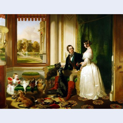 Queen victoria and prince albert at home at windsor castle in berkshire england