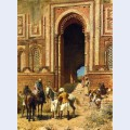 Indian horsemen at the gateway of alah ou din old delhi