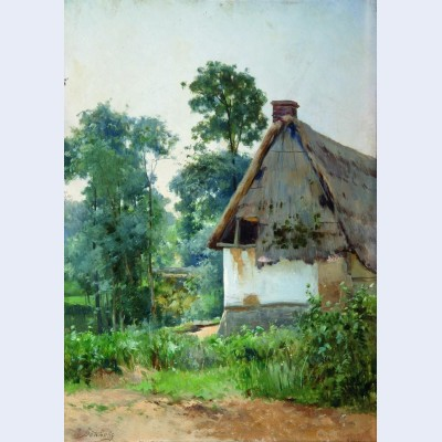 Landscape with an abandoned house