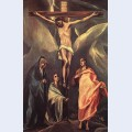 Christ on the cross with two maries and st john