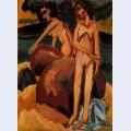 Bathers at sea