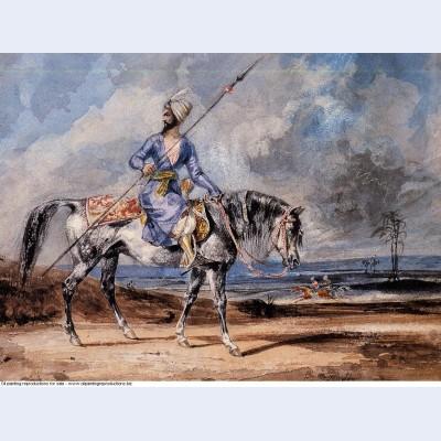 A turkish man on a grey horse 1