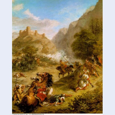 Arabs skirmishing in the mountains 1863 1