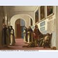 Christopher columbus and his son at la rabida 1838 1