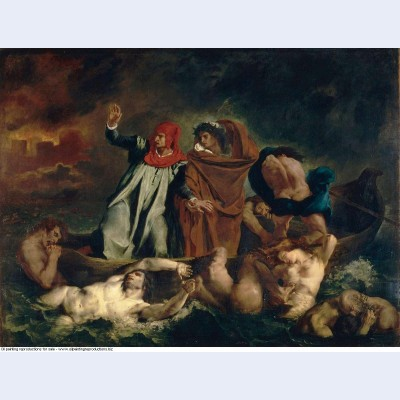Dante and virgil in the underworld 1822 1