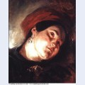 Head of a woman in a red turban 1831 1
