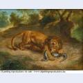 Lion and alligator 1855 1