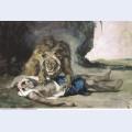 Lion rending apart a corpse 1