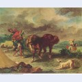 The moroccan and his horse 1857 1