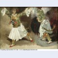 Two greek warriors dancing study costumes souliotes 1825 1