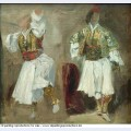Two views of costumes souliotes 1825 1