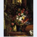 Vase of flowers on a console 1849 1