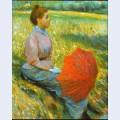 Lady in a meadow