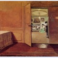 Interior vestibule by lamplight