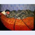 Laid down woman sleeping