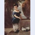 Portrait of don giulio vigoni as a child