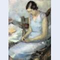 Fata in albastru
