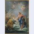 St peter invited to walk on the water