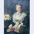 Portrait of a lady in a lace edged dress