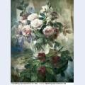 Nature morte au vase de roses