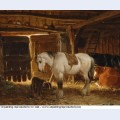 Stable with animals