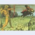 Heracles kills the centaur nessus to save deianira