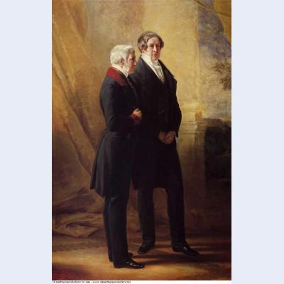 Arthur wellesley 1st duke of wellington with sir robert peel 1844