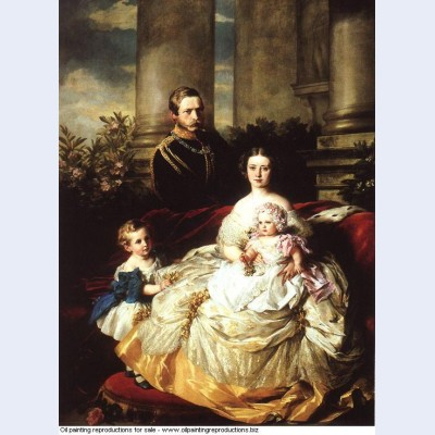 Emperor frederick iii of germany king of prussia with his wife empress victoria and their