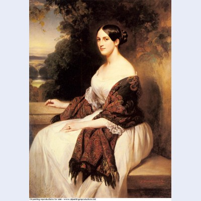 Portrait of madame ackerman the wife of the chief finance minister of king louis philippe