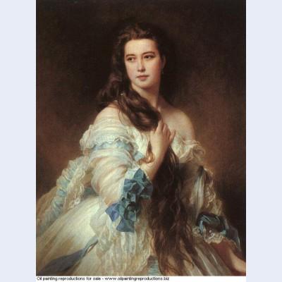 Portrait of madame rimsky korsakov varvara dmitrievna mergassov 1864