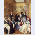 Queen victoria and prince albert with the family of king louis philippe at the chateau