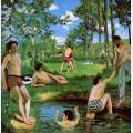 Bathers summer scene