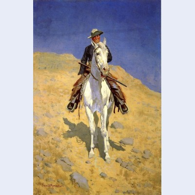 Self portrait on a horse