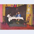 Kandinsky and erma bossi at the table in the murnau house