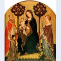 Madonna with child and st catherine st nicolas and donor gentile da fabriano