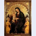 Madonna with child and two angels gentile da fabriano