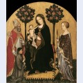 Mary enthroned with the child saints and a donor