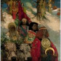 The druids bringing in the mistletoe collaboration with edward atkinson hornel