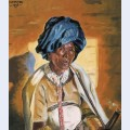 Xhosa woman smoking a pipe