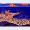 Blue seascape wave effect